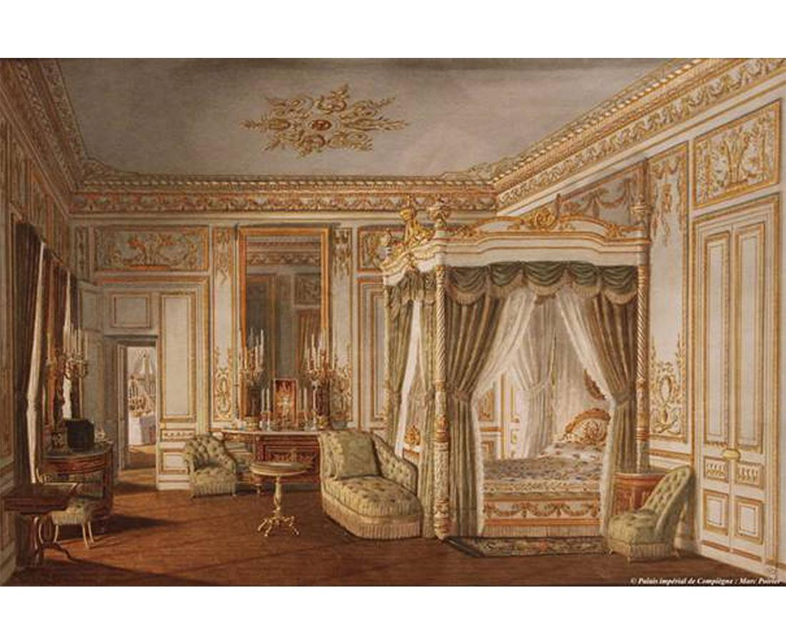 Vue de la chambre coucher de l imp ratrice eug nie au for Chambre chateau
